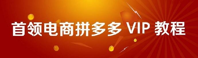首领电商《拼多多vip开店教程》(共9节课)