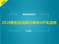 新手操作短视频自媒体月入10万+课程:《聚蚁短视频自媒体VIP实战班课程》